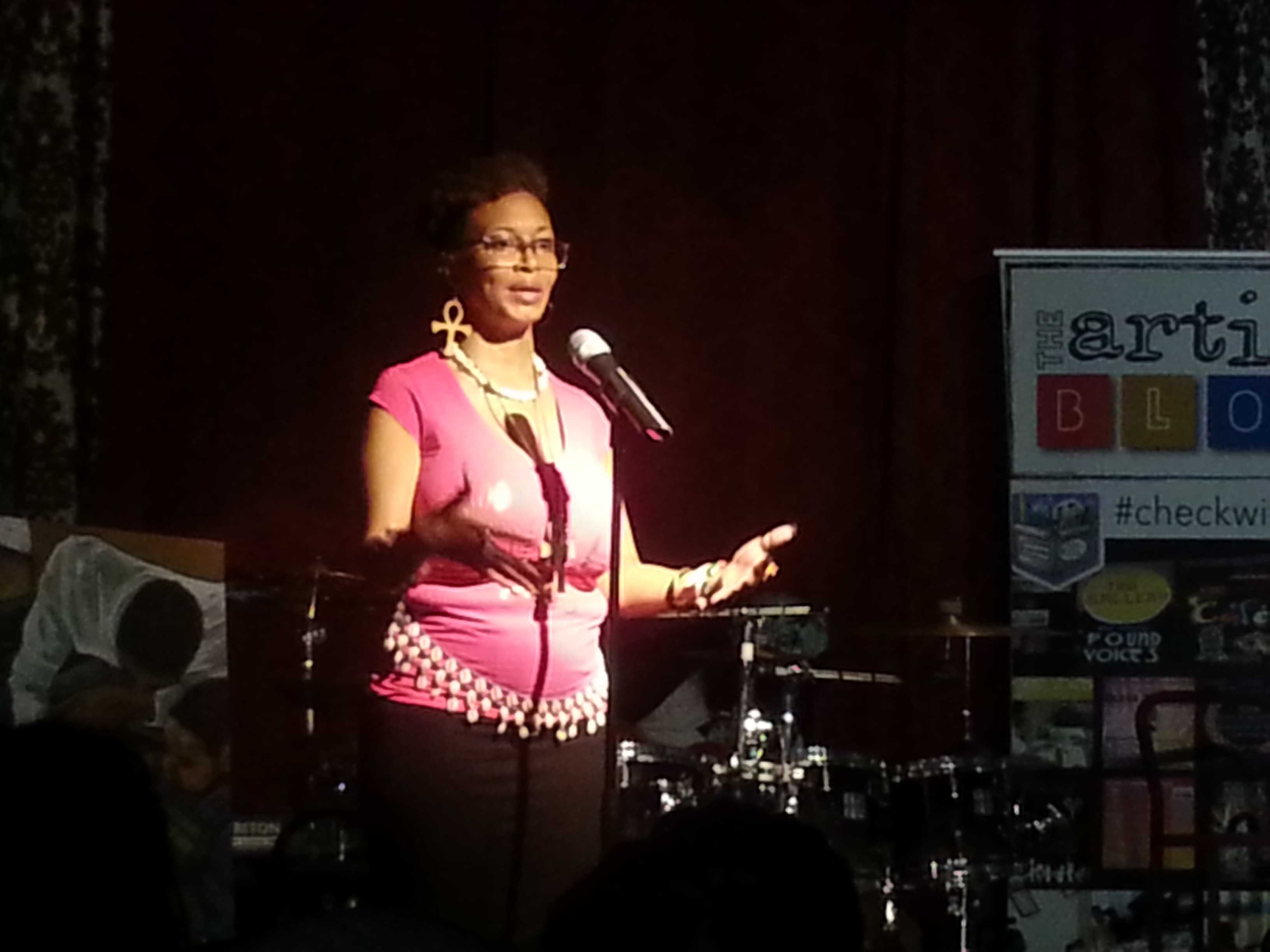 Real R.A.P. Lavinia Jackson performs at Artist Bloc