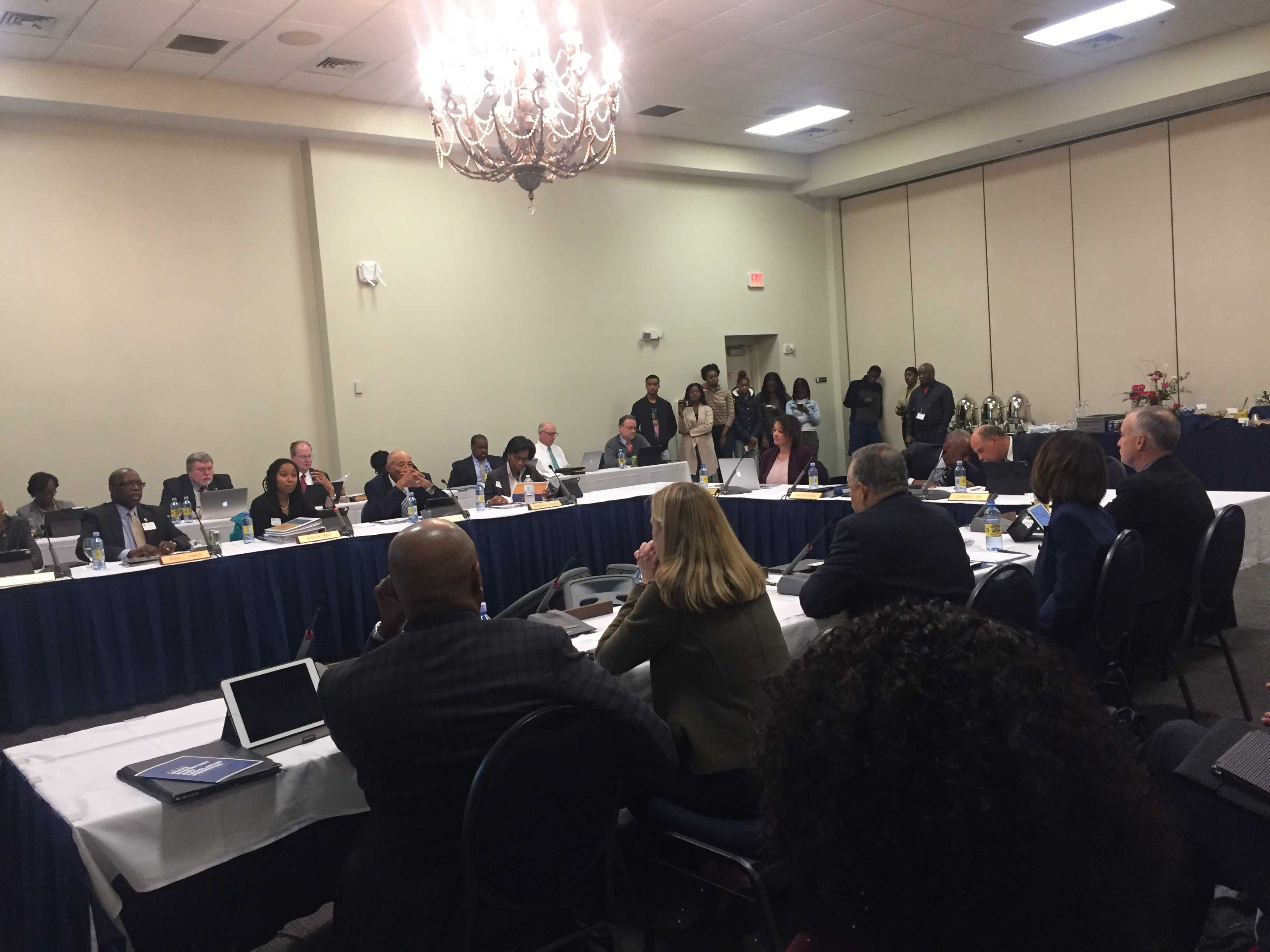 Board of Trustees meeting on campus in the Alumni Event Center