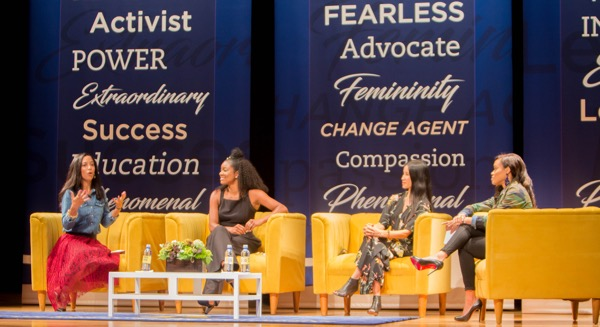 Four influential women discuss the empowerment of women at the Chancellor's Town Hall.