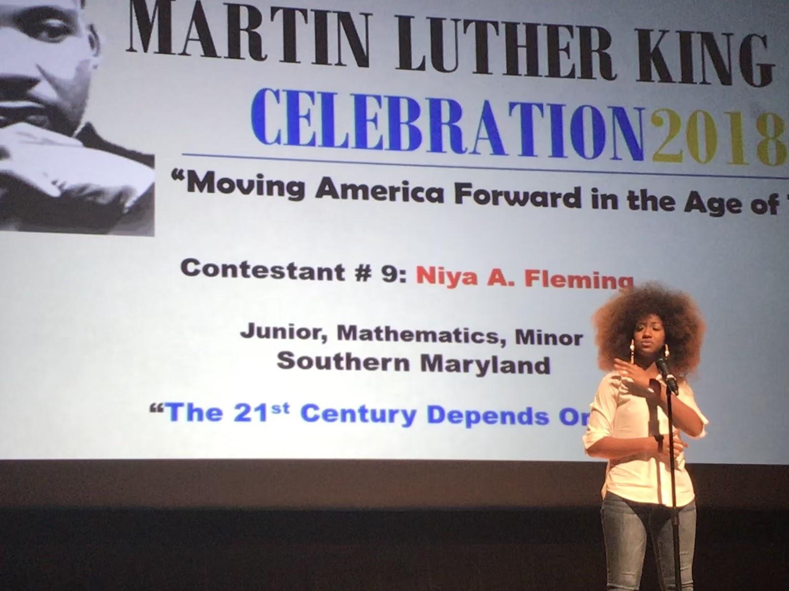 MLK oratory contest celebrates a legend by: Elaijah Gibbs-Jones
