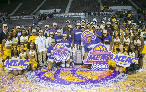 NCAT basketball running the MEAC