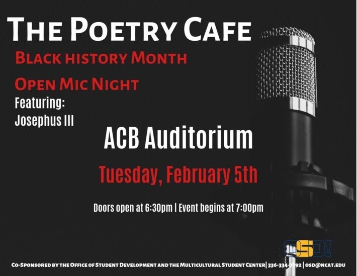 Preview: Black History Month Poetry Café