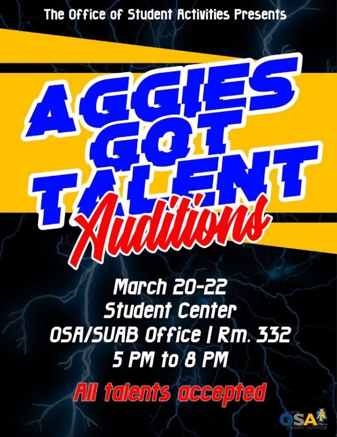"""O.S.A. holds auditions for """"Aggies Got Talent"""""""