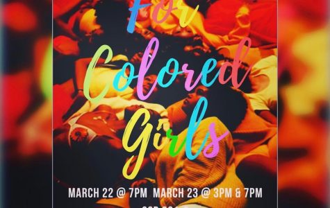 "The Phi Epsilon cast of Alpha Psi Omega presents ""For Colored Girls"""