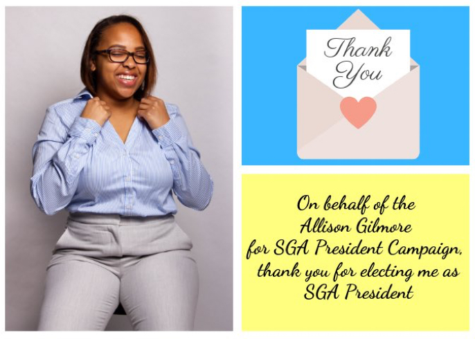 Allison Gilmore elected as 2019-2020 SGA President