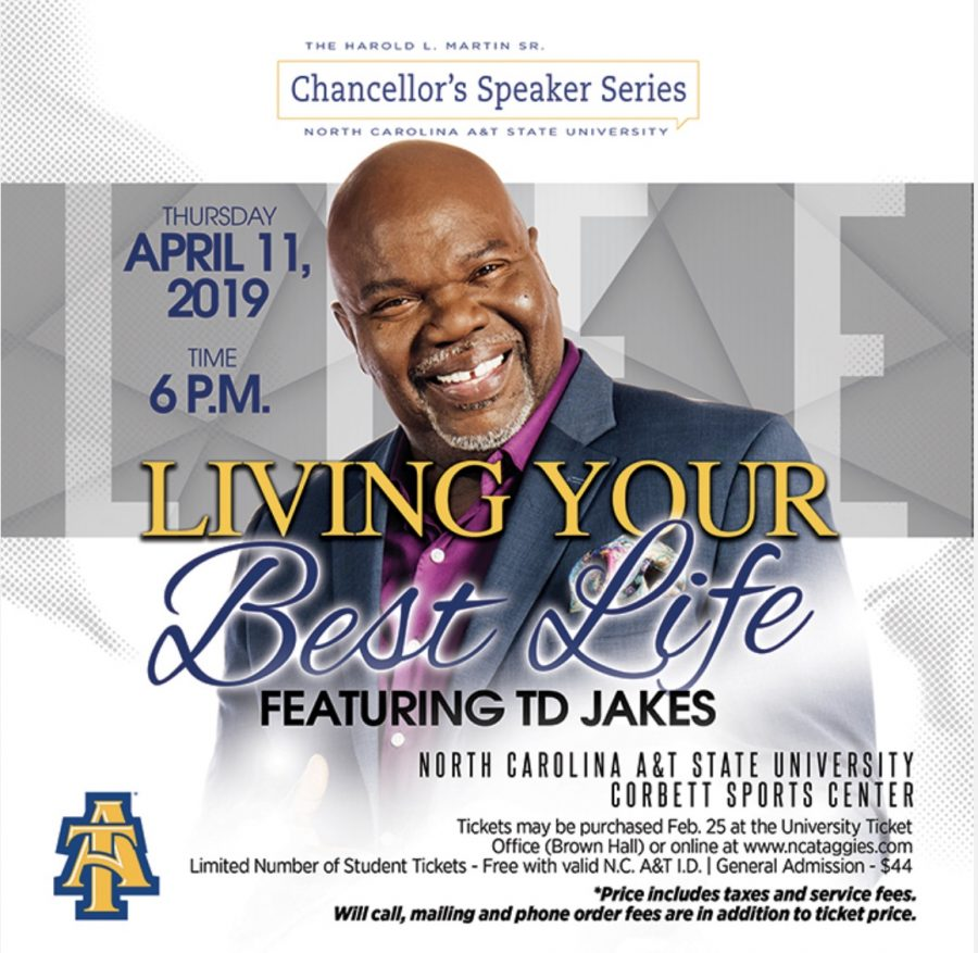 T.D. Jakes to lead spring Chancellor's Speaker Series