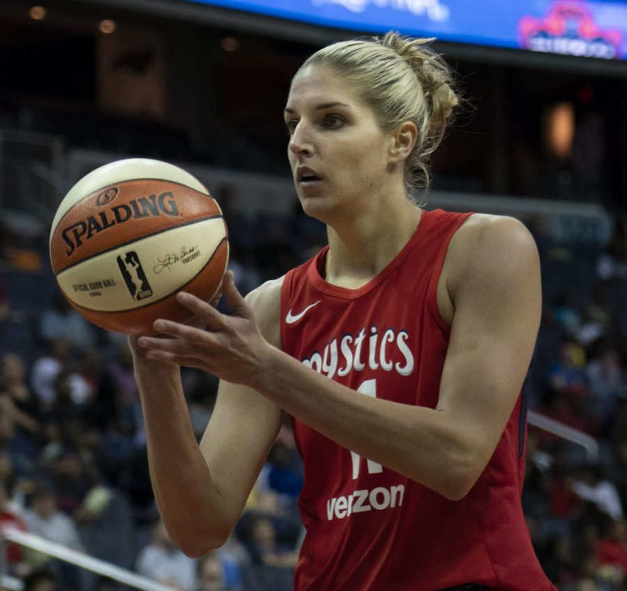 Delle Donne at the free throw line during Fever vs Mystics game 5/20/18.