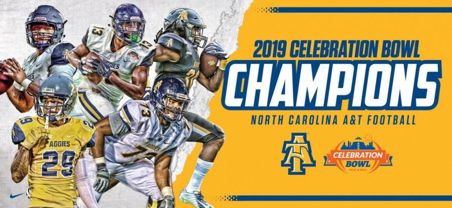 N.C. A&T Aggies defeated the Alcorn State Braves on Saturday, Dec. 21, 2019 at the Celebration Bowl in Atlanta, Georgia.