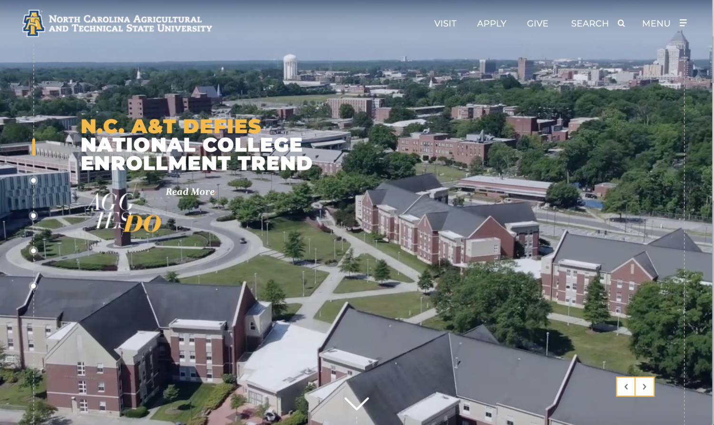 Screenshot of newly designed website