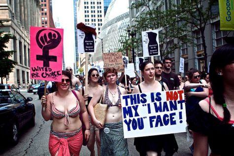 Protestors at 2011 SlutWalk in Chicago.