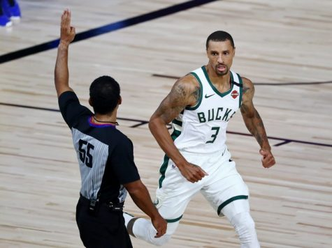 George Hill during the Bucks