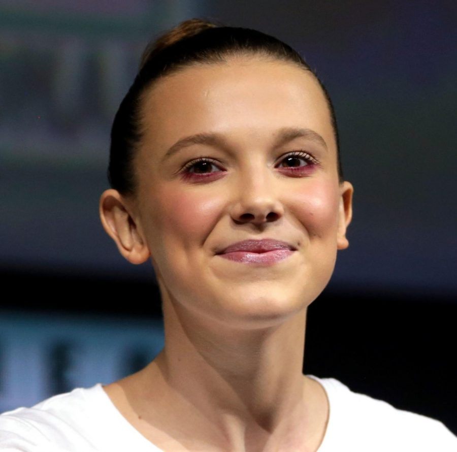 Millie+Bobby+Brown+is+an+English+actress%2C+producer+and+model.+She+is+known+for+her+role+as+%27Eleven%27+in+the+Netflix+series+%27Stranger+Things%27.