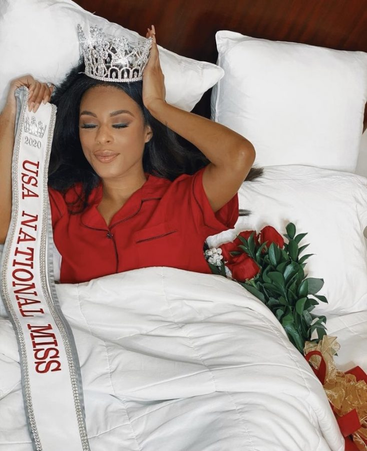 After finishing as a runner-up in the 2019 USA National Miss contest, she won the title in 2020.