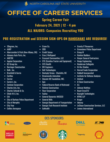 Handshake's case study reveals that N.C. A&T's career fair as largest