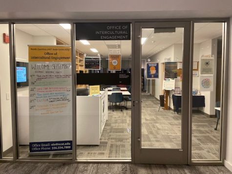 The Office of Intercultural Engagement is located on the second floor of the Student Center
