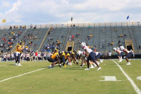 N.C. A&T wins their first Big South Conference Football Game against Robert Morris